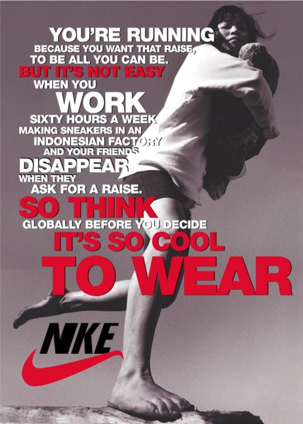 nike sweatshops slavery or opportunity Nike used sweatshops the nike product has become synonymous with slave wages complex participates in various affiliate marketing programs.