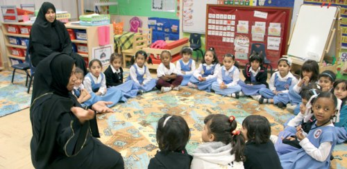Children are introduced to concepts of human trafficking at a school.